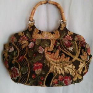 Talbots Tapestry Handbag
